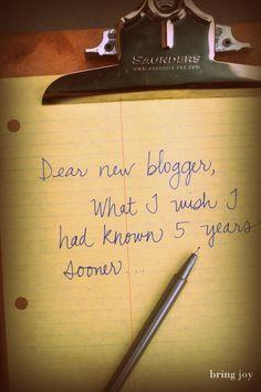 Good Tips....13 blog tips I wish I'd known when I started #blogging via @bringjoyj