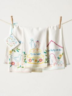 anthropologie dish towels newlyweds gifts