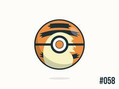 Pokéballday #58 Growlithe Ball by Jonathan Coutiño. New Pokeball everyday inspired in one of the 801 Pokémon.
