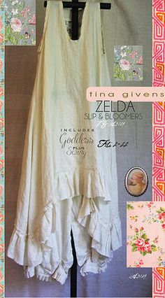 PDF downloadable sewing patterns by tina givens-zelda dress and bloomers