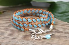 Braided Triple Leather Wrap Bracelet by BearCreekCollection, $32.00