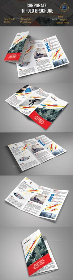 Corporate Trifold Brochure - Corporate Brochure Template PSD. Download here: http://graphicriver.net/item/corporate-trifold-brochure/11463287?s_rank=1746&ref=yinkira