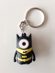Despicable ME 2 Minion x Marvel Super Heroes Keychain Key Ring Avengers 3D Silicone Batman Bruce Wayne CUSTOM DESIGN on Etsy, $2.49