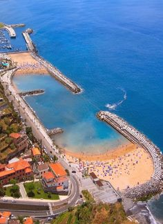#Madeira Island, #Portugal: Calheta beach, to be precise. The sand was brought in from Morocco as Madeira beaches are rocky (volcanic rock).