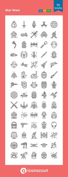 Star Wars Icon Pack - 70 Line IconsYou can find Star wars tattoo and more on our website.Star Wars Icon Pack - 70 Line Icons Simbolos Star Wars, Star Wars Icons, Nave Star Wars, Leia Star Wars, Star Wars Poster, Star Wars Characters, War Quotes, Star Wars Quotes, Simbolos Tattoo