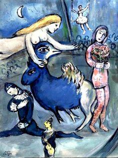 Marc Chagall - Between Surrealism & NeoPrimitivism Marc Chagall, Artist Chagall, Chagall Paintings, Famous Artists, Great Artists, Folklore Russe, Art Du Cirque, Art Textile, Jewish Art
