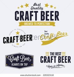Vintage Style Craft Beer Label Set