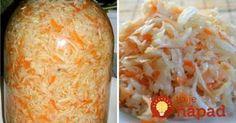 Tento skvelý šalátik je vynikajúcou prílohou k mäsku, do halušiek alebo k inému jedlu. Skvele osvieži a je dodá vynikajúcu chuť každému pokrmu. Sauerkraut, Sweet And Salty, Preserves, Baked Potato, Carrots, Food To Make, Cabbage, Food And Drink, Cooking Recipes