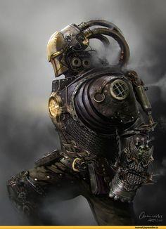 Steampunk,стимпанк, паропанк,робот,арт,красивые картинки,Iron Man,Железный Человек, Тони Старк,Marvel,фэндомы