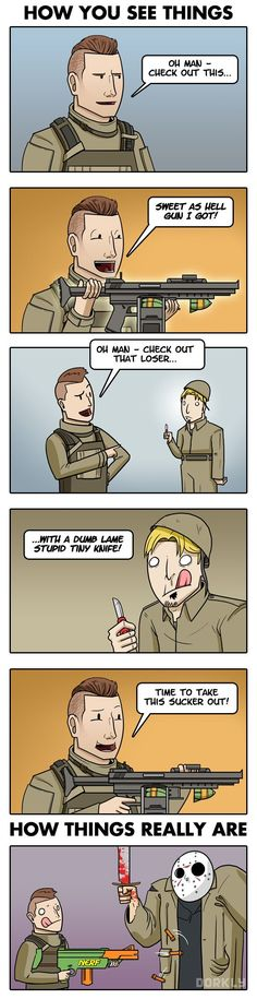 """The Reality of Call of Duty Multiplayer"" #dorkly #geek #callofduty"