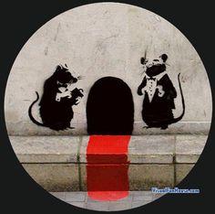 *Mousy street art...Banksy