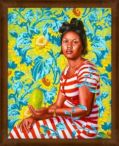 Kehinde Wiley, Venus at Paphos (The World Stage: Haiti), 2014. Oil on linen 60 x 48 in (152.5 x 122 cm). Courtesy of the artist and Roberts & Tilton, Culver City, California.
