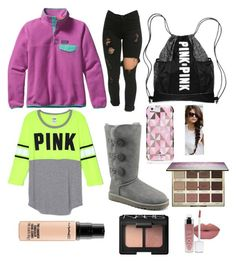 """Cozy Thursdays"" by alexxfotopoulos on Polyvore featuring Patagonia, UGG Australia, Kate Spade, tarte, NARS Cosmetics, MAC Cosmetics, women's clothing, women's fashion, women and female"