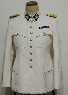 WW2 German Army or SS white M36 TUNIC - COTTON
