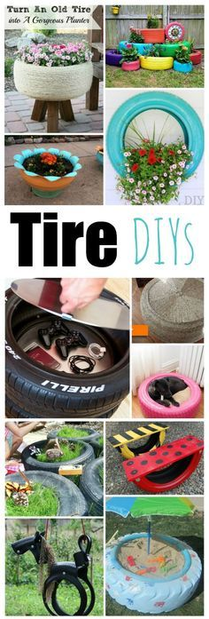 Wow these tire DIYs are amazing. Love that there are tire garden ideas, as well tire home decor ideas. Fabulous. That tire dog bed it is the best!
