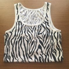 1X Bobby Brooks tank Size 1X but can also fit XL zebra strip tank Tops Tank Tops