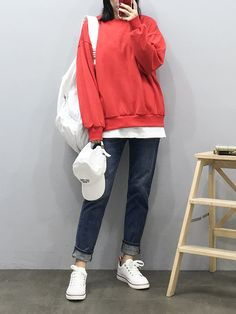 Korean Girl Fashion, Korean Fashion Trends, Ulzzang Fashion, Korea Fashion, Japanese Fashion, Cute Fashion, Fashion Pants, Asian Fashion, Look Fashion