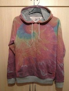 ASOS Multi Colour Tie Dye Overhead Hoodie - Mens Size Small - New Condition