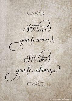 I'LL LOVE YOU FOR FOREVER.....