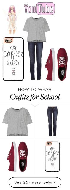 """Staying home//too miserable to go to school//16"" by maryberry111 on Polyvore featuring Tory Burch, rag & bone, Casetify, Vans and daycountdown"