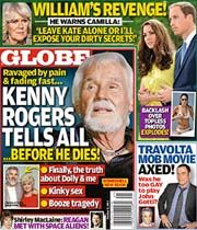 Globe is a weekly gossip magazine focused on celebrity news, TV, music, entertainment, and true crime.