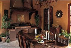 Mexican decor  maybe move the dining table outside for a party