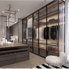 Fantastic luxury closets for your Master Bedroom. #luxuryclosets #luxuryfurniture #exclusivedesign #interiodesign #designideas #roomdesign #roomideas #homeideas #housedesignideas #interiordesignstyles #luxuryinteriordesign