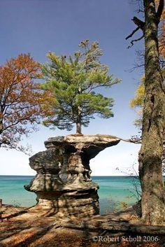 Chapel Rock - Pictured Rocks National Lakeshore, Michigan