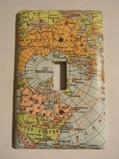 DIY idea: map light switch cover