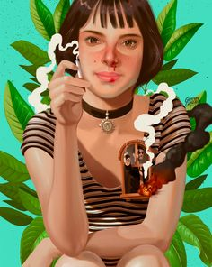Colombian illustrator and graphic designer German Gonzalez creates unique illustrated portraits with beautiful color palettes.