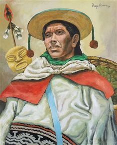 Portrait of Mexican figure by Diego Rivera List Of Artists, Famous Artists, Diego Rivera Art, Chicano, Industrial Artwork, Mexican Artwork, Famous Mexican, Frida And Diego, Western Caribbean