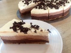 Triplacsokis mascarponés torta | Mai Móni Easy Healthy Recipes, Healthy Meals, Cake Recipes, Cheesecake, Cookies, Food, Food Recipes, Biscuits, Meal