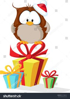 https://image.shutterstock.com/z/stock-vector-cute-owl-with-santas-hat-sitting-on-christmas-gift-vector-illustration-531988873.jpg