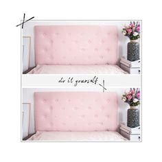 DIY: Gepolstertes Kopfteil Fürs Bett   Ich Verrate Euch Wie Ihr Euch Ganz  Schnell Euer