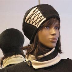 Chapeau vintage, couleur et taille au choix. laine bouillie et polaire. ref :1520.