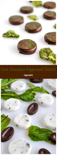 These Dark Chocolate Peppermint Patties are stuffed with a refreshingly cool blend of fresh mint leaves and fondant dipped in silky, dark chocolate.