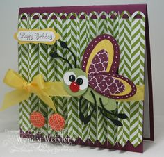 Insect birthday card by Wendy Weixler