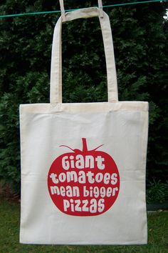 Screen Printed Tote Bag Natural Cotton Organic and by UrbanPrey, $13.00