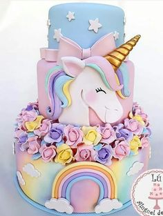 48 Ideas For Birthday Party Cake Unicorn Unicorne Cake, Cupcake Cakes, Bolo Fake Eva, Pinterest Cake, Unicorn Foods, Unicorn Birthday Parties, Cake Birthday, Girl Birthday, Birthday Ideas