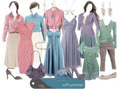 Colors! Soft Summer (I think SS Light/Toned) collage by True Colour International Truecolour.com.au