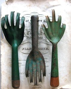 "Go look in the garage.  You will probably find a few of these in your gardening tool collection.  Chances are they were inherited by you when your Mom was weeding out her collection.  They are worth money.  Do not throw them away! Put them in your ""going to auction"" box."
