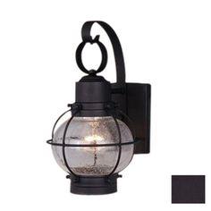 Cascadia Lighting Nautical 12-in Textured Black Outdoor Wall Light - outside lights - front door, mud room