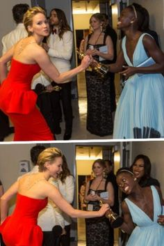 Jennifer Lawrence and Lupita Nyong' O