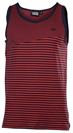 VANS Vans Mens Striped Classic Mixed Tank Top Red. #vans #cloth #
