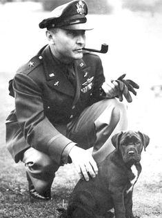 Brigadier General of the USAAF Ira C. Eaker in England during the war.