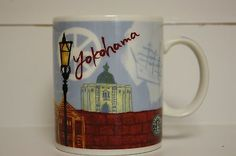 New 2013 Starbucks 14oz Yokohama Japan Ceramic Mug Coffee Tea