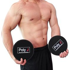 Extremely Durable Glider Discs by Poly J Set of 2 Exercise Sliders  Workout Your Core Muscles by Sliding or Gliding The Dual Sided Discs on Hardwood or Carpet *** For more information, visit image link. (Note:Amazon affiliate link)