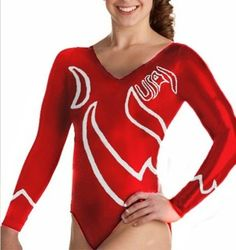 Team USA Red Leotard Profile Photo