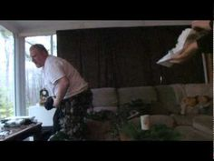 Man fills a diaper with chocolate pudding and pranks his diaper-phobic friend...