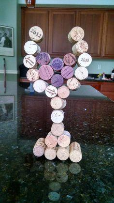 Wine cork glasses by daydrmsgrl on Etsy